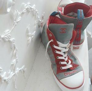 ❤ CC Chanel logo shoes